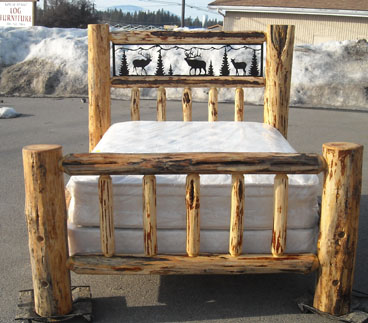 Log beds log bunk beds cedar log beds rustic log beds Adirondack bed frame
