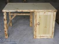 Pine Log Work Desk