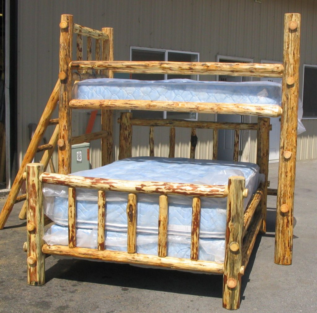 Picture of: Log Bunk Beds North Idaho Log Furniture