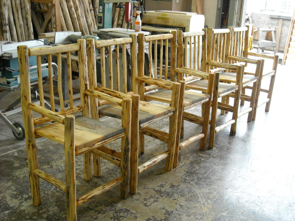 Log Chairs And Bar Stools North Idaho Log Furniture
