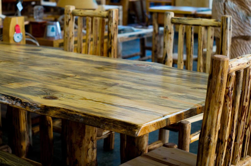 Log Table North Idaho Log Furniture